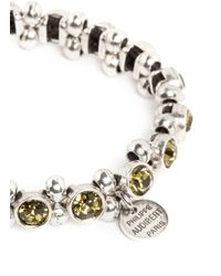 Philippe Audibert - Metallic Silver Trimmed Round Crystal Bracelet - Lyst