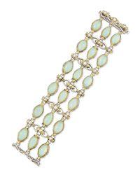 Konstantino - White Sea Blue Agate & Pearl Bracelet - Lyst