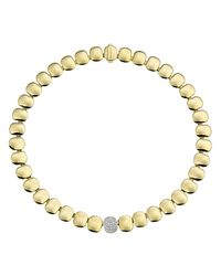 Chimento | Metallic Double Joint Collection 18k Gold Necklace With Diamonds, 14.5"