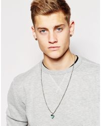 ASOS - Blue Turquoise Aztec Necklace for Men - Lyst