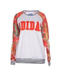 Adidas Originals - Red Sweatshirt - Lyst