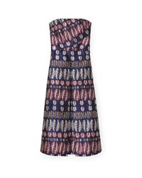 Tory Burch | Blue Metallic Jacquard Dress | Lyst