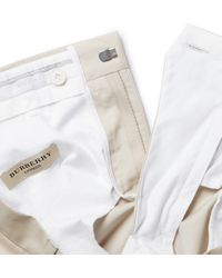 Burberry - Gray Slim-Fit Cotton Trousers for Men - Lyst