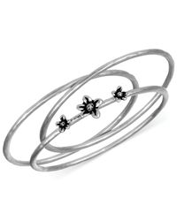 The Sak | Metallic Silver-tone Flower Bangle Bracelet Set | Lyst