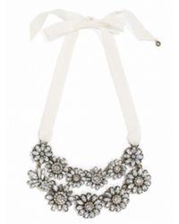 BaubleBar - White Double Ribbon Bouquet Strands - Lyst