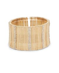 Saks Fifth Avenue | Metallic Textured Bar Stretch Bracelet/gold | Lyst
