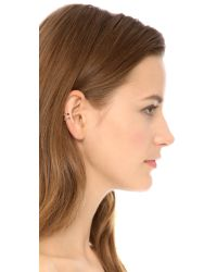 House of Harlow 1960 - Metallic Engraved 2 Ring Ear Cuff Gold - Lyst