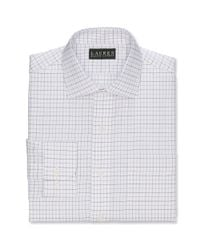 Lauren by Ralph Lauren - White Slim Fit Purple and Black Twill Open Check Dress Shirt for Men - Lyst