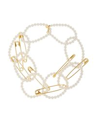 Tom Binns | Metallic Pearls in Peril Gold-plated Pearl Necklace | Lyst