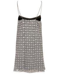 TOPSHOP - Metallic Silver Brocade Strappy Dress  - Lyst