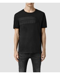 AllSaints | Black Scripture Crew T-shirt for Men | Lyst