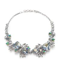 Ca&Lou | Metallic Tea Crystal & Faux Pearl Necklace | Lyst