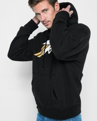 7 For All Mankind - Oversized Reversible Hoodie In Black for Men - Lyst