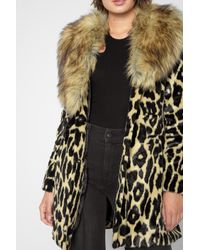 7 For All Mankind - Multicolor Long Faux Fur Coat In Ocelot - Lyst