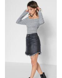 7 For All Mankind - Mini Skirt Vintage Bedford Black - Lyst