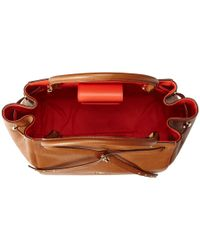 COACH - Red Refined Pebble Leather Small Turnlock Tie Tote - Lyst