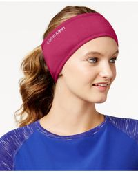 Calvin Klein | Red Performance Jersey Faux Sherpa-lined Headband | Lyst