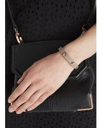 Marc By Marc Jacobs - Gray Taupe Screw Embellished Leather Bracelet - Lyst