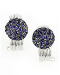 Effy | Blue Balissimapave Sapphire And Sterling Silver Earrings | Lyst