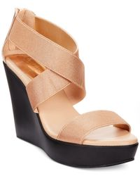 Charles by Charles David - Pink Pauline Platform Wedge Sandals - Lyst