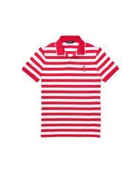 Ralph Lauren   Red Slim-fit Striped Piqué Polo for Men   Lyst