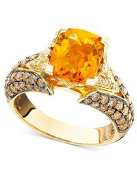 Le Vian | Metallic Citrine (2-3/8 Ct. T.w.) And Chocolate Diamond (1-1/5 Ct. T.w.) Ring In 14k Gold | Lyst