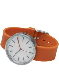 Uniform Wares | Orange Brushed Steel 104 Series Wristwatch | Lyst