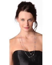 Kenneth Jay Lane | Metallic Large Cz Stations Necklace | Lyst