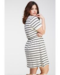 Forever 21 - White Plus Size Striped Stretch-knit Dress You've Been Added To The Waitlist - Lyst