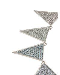Eddie Borgo - Metallic Pave Large Triangle Necklace - Lyst