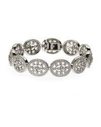 Nadri | Metallic Silver-Tone Open Circle Bracelet | Lyst