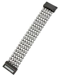 Kenneth Cole | Metallic Crystal-faceted Stone Mesh Bracelet | Lyst