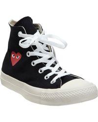 Play Comme des Garçons Black Play Chuck Taylor All Star Canvas High-Top Sneakers