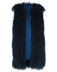 French Connection | Black Chicago Faux Fur Gilet | Lyst