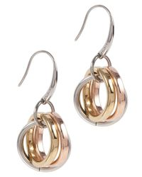 DKNY | Metallic Essentials Drop Earrings | Lyst