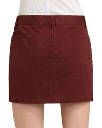 T By Alexander Wang | Red Jean Skirt | Lyst