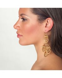 Lele Sadoughi | Metallic Orbit Chandelier Earrings, Gold | Lyst