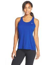Nike | Blue Contour Tank Top | Lyst