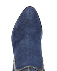 Sergio Rossi - Suede Knee Boots - Blue - Lyst
