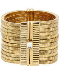 Lanvin - White Crystal-embellished Multi-strand Snake-chain Bracelet - Lyst