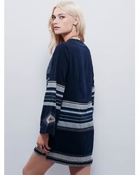 Free People | Blue Womens Sundown Mini Dress | Lyst