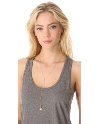 Jennifer Zeuner - Metallic Heart Lariat Necklace - Lyst
