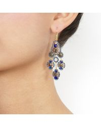 Miguel Ases - Blue Quartz Earrings - Lyst