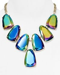"Kendra Scott - Blue Harlow Iridescent Necklace, 18"" - Lyst"