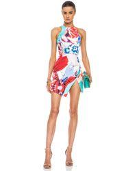 Nicholas - Multicolor Collage Silk Wrap Dress in Floral Multi - Lyst