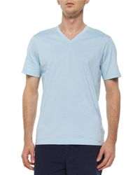 Michael Kors - Green Short-Sleeved V-Neck Jersey T-Shirt for Men - Lyst