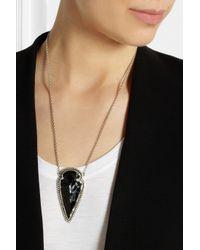 Pamela Love - Black Arrowhead Silver Obsidian Necklace - Lyst