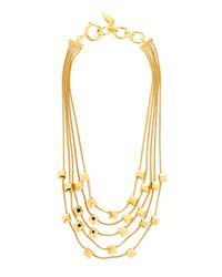Diane von Furstenberg | Metallic Geometric Gold-Plated Necklace | Lyst