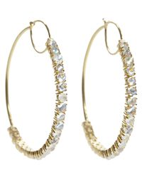 Irene Neuwirth | Metallic Gemstone Hoops | Lyst