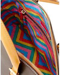 Dooney & Bourke - Brown Claremont Leather Dome Satchel Bag - Lyst